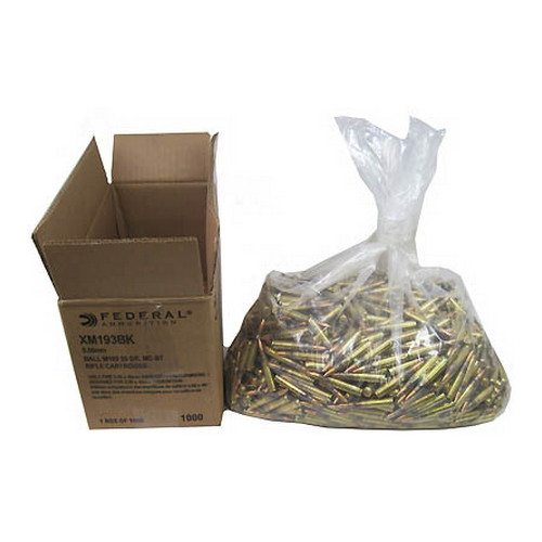 Federal Cartridge Federal Cartridge 5.56 Mil Spec 55 Grain FMJ/1000 XM193BK
