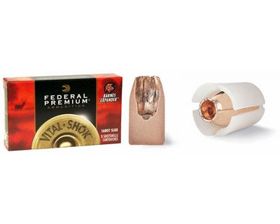 Federal Cartridge Federal Cartridge Rifled Slugs 12 Gauge Premium Barnes Expander 2-3/4