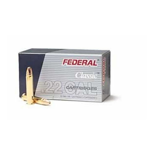 Federal Cartridge Federal Cartridge 22 Long Rifle 22 Long Rifle, 38gr High Velocity Copper Plated Hollow Point 712