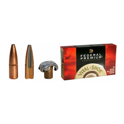 Federal Cartridge 7mm Remington Magnum 7mm Mag, 175gr, Trophy Bonded Bear Claw, Nickel Plated, (Per 20)
