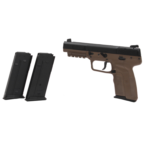 FNH USA Five-seveN w/3 20 Round Magazines, Adjustable Sights Flat Dark Earth