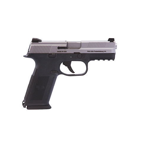 FNH USA Pistol FNH USA FNS-9 No Safety 9mm Luger Luger 17 Round 3 Magazines Black/Stainless Steel 66753