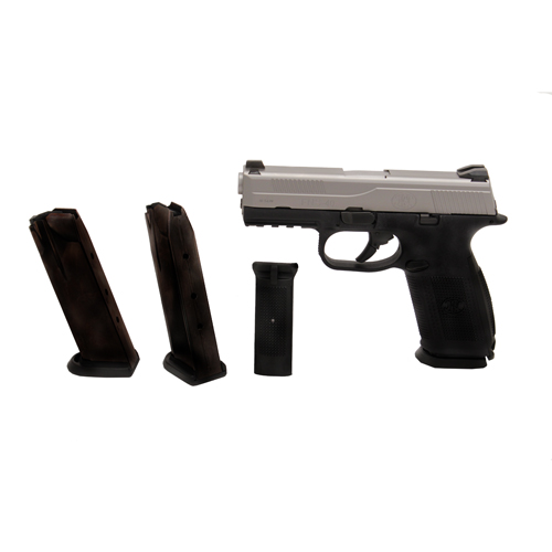 FNH USA Pistol FNH USA FNS-40 No Safety 40 S&W 14 Round, 3 Magazines Black/Stainless 66761