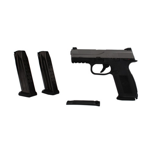 FNH USA Pistol FNH USA FNS-9 DA Manual Safety 9mm Luger Luger 17 Round Black/Stainless 66926
