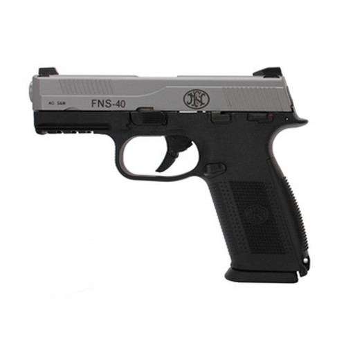 FNH USA Pistol FNH USA FNS-40 DA Manual Safety 40 S&W 14 Round Black/Stainless Steel 66941