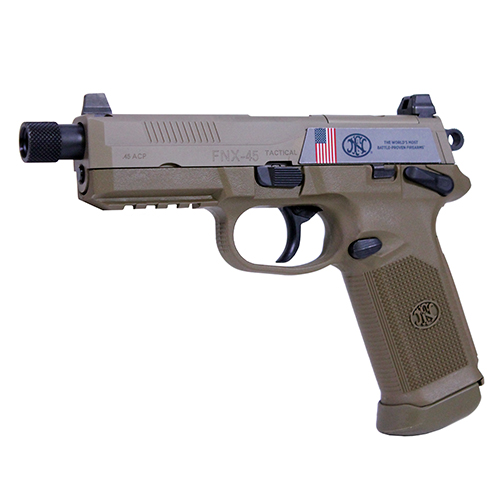 FNH USA Pistol FNH USA FNX-45 Tactical 45 ACP DA/SA Manual Safety, 15 Round Flat Dark Earth, Night Sights 66968