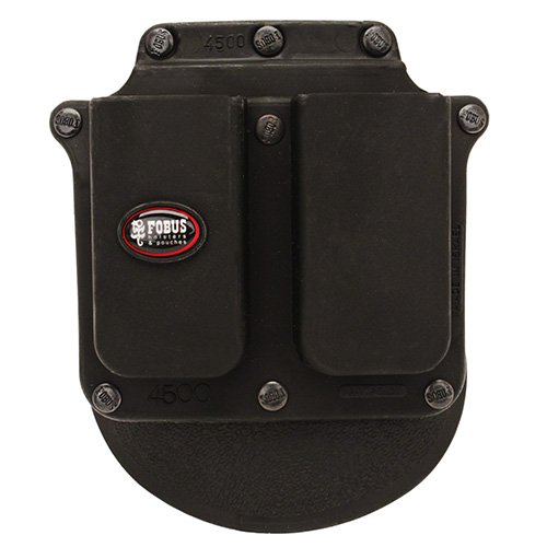 Fobus Fobus Double Mag Pouch Single Stack, 9mm/.45 / Sig 357/40 (Paddle) 4500P