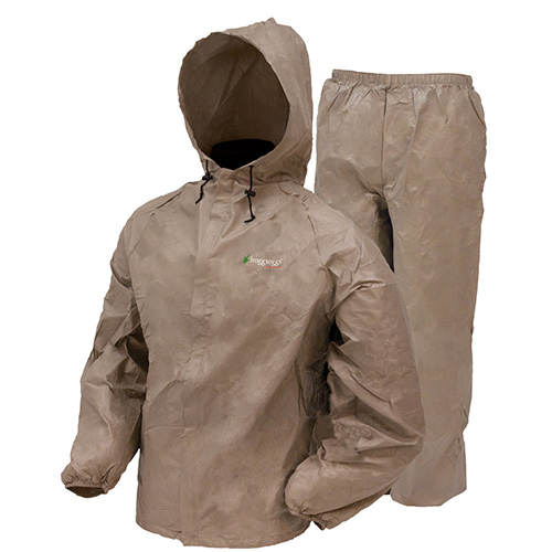 Frogg Toggs Ultra-Lite2 Rain Suit w/Stuff Sack Medium, Khaki