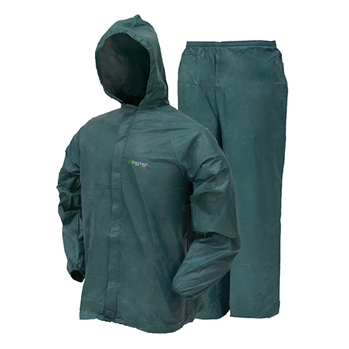 Frogg Toggs Ultra-Lite2 Rain Suit w/Stuff Sack Large, Green