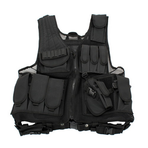 Galati Gear Black Deluxe Tactical Vest - Standard