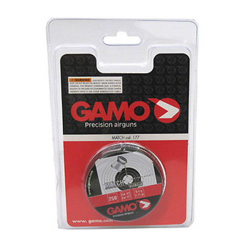 Gamo Match Pellets Flat Nose, .177/250