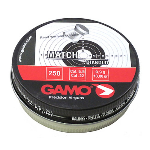 Gamo Match Pellets (Flat Nose) .22 Cal