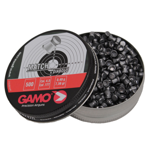 Gamo Gamo Match Pellets Flat Nose (Per 500) .177 Caliber 632003454