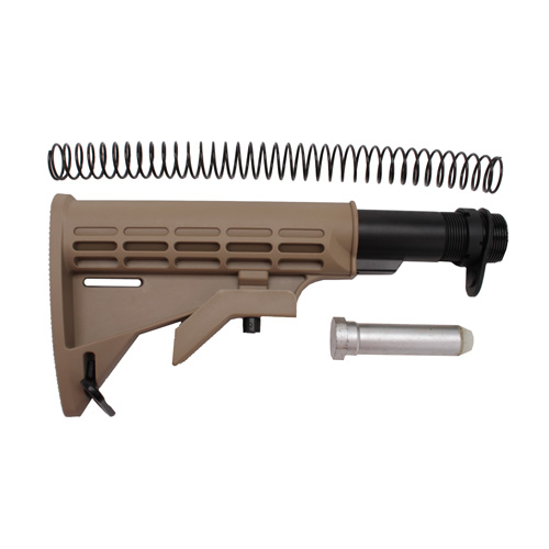 Global Military Gear Global Military Gear AR15/M4 6-Position CAR Stock Kit Tan GM-6PS-T