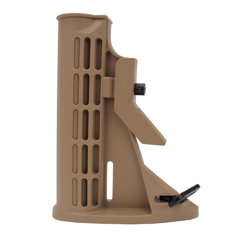 Global Military Gear Global Military Gear AR15 6 Position Poly Stock Only Tan GM-6PPS-T