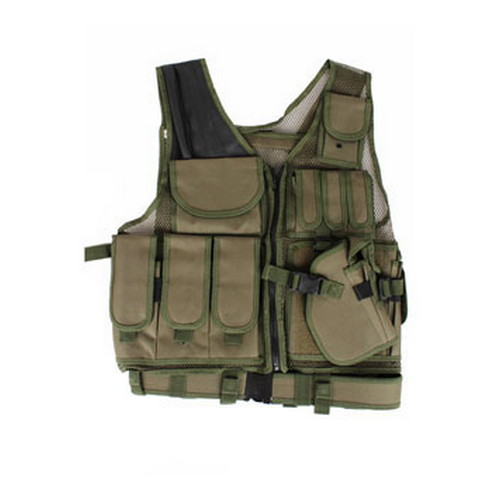 Global Military Gear Tactical Vest OD Green