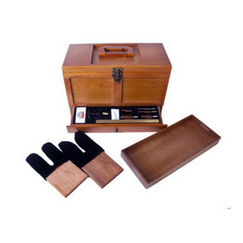 Gunmaster by DAC Wooden Toolbox with Universal Gun Cleaning Kit 17 Piece
