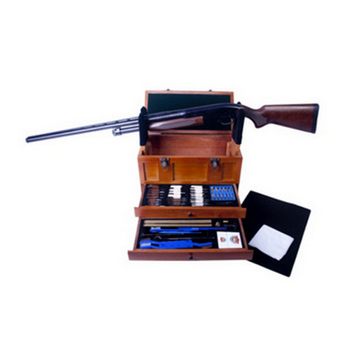 Gunmaster by DAC Gunmaster by DAC Wooden Toolbox with Universal Gun Cleaning Kit 63 Piece TBX96-W