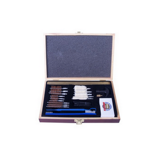 Gunmaster by DAC Universal Select 30 Piece .22 Caliber and Larger Cleaning Kit Wooden Case