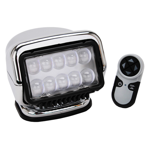GoLight LED Stryker Wireless HandHeld Remote Mag Base, Chrome
