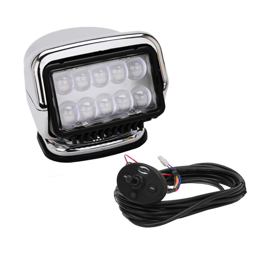 GoLight GoLight LED Stryker Wired Dash Remote Chrome 30264