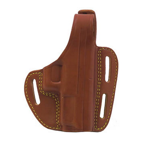 Gould & Goodrich Gold Line 3 Slot Pancake Holster XD4 9mm, Chestnut Brown