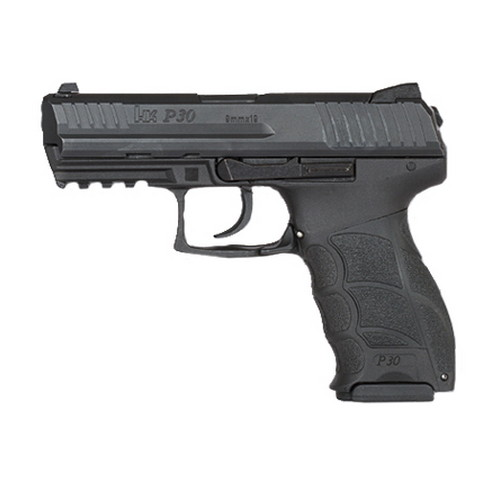 Heckler & Koch Pistol Heckler & Koch P30 V3 DA/SA, Decocker Button 9mm Luger Luger10 Round 730903-A5
