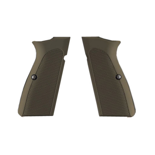 Hogue Hogue Browning Hi Power Grips Checkered Aluminum Matte Green Anodized 09171