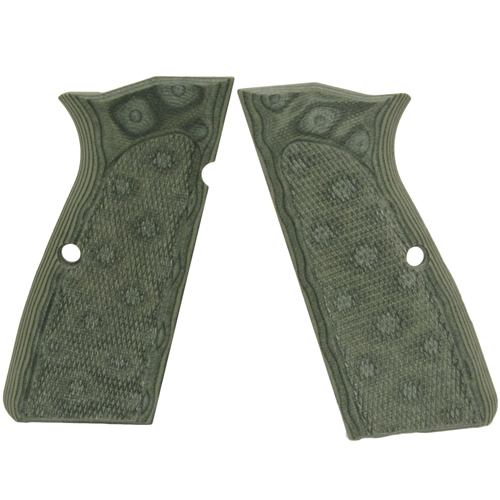 Hogue Hogue Browning Hi Power Grips Checkered G-10 G-Mascus Green 09178