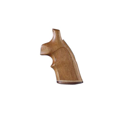 Hogue S&W K or L Frame Square Butt Grips Goncalo Alves w/Top Finger Groove, Stripe, Checkered