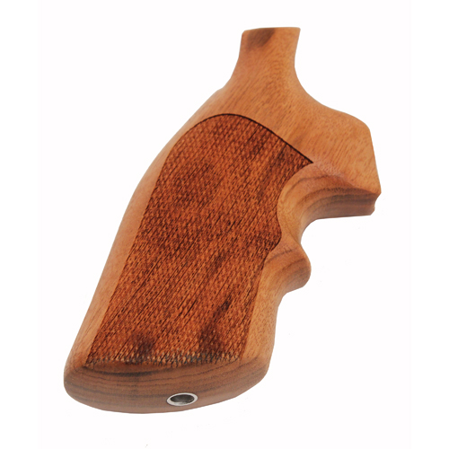 Hogue Hogue S&W K or L Frame Square Butt Grips Goncalo Alves w/ Top Finger Groove, Checkered 10251