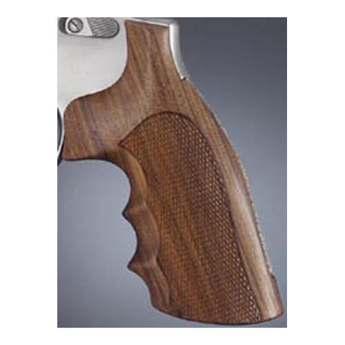 Hogue S&W K or L Frame Square Butt Grips Checkered Pau Ferro
