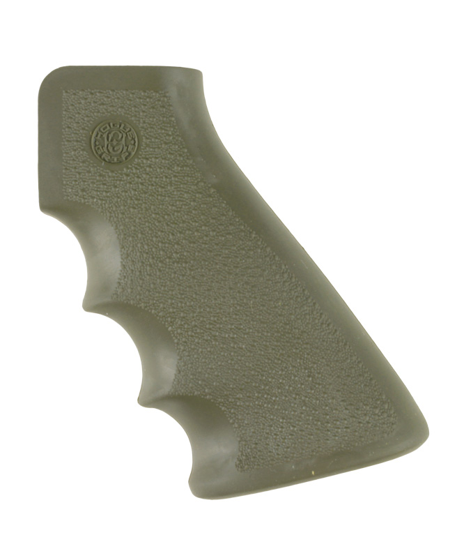 Hogue Hogue AR-15 Rubber Grip w/Finger Grooves Olive Drab Green 15001