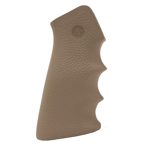 Hogue AR-15 Rubber Grip with Finger Grooves,  Desert Tan