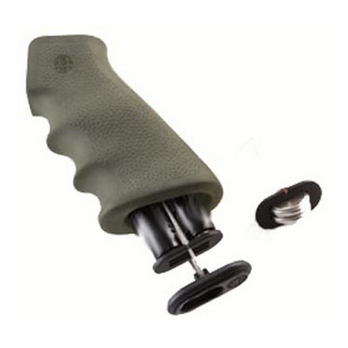 Hogue Hogue AR-15 Rubber Grip w/Storage Kit Olive Drabe Green 15011