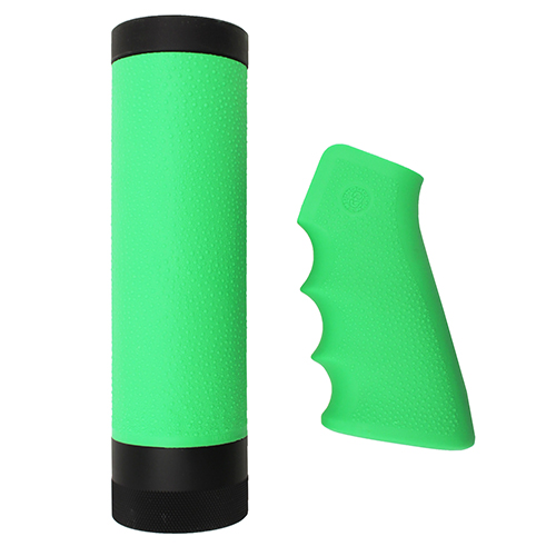 Hogue Hogue AR-15/M-16 Kit Overmolded Grip/Forend, Carbine Zombie Green 15019