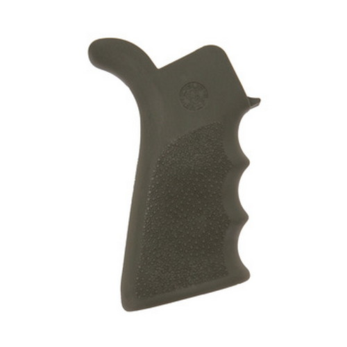 Hogue Hogue AR-15 Rubber Grip Beavertail w/Finger Grooves Olive Drab Green 15021