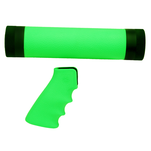 Hogue Hogue AR-15/M-16 Kit Overmolded Grip/Forend, Medium Zombie Green 15029