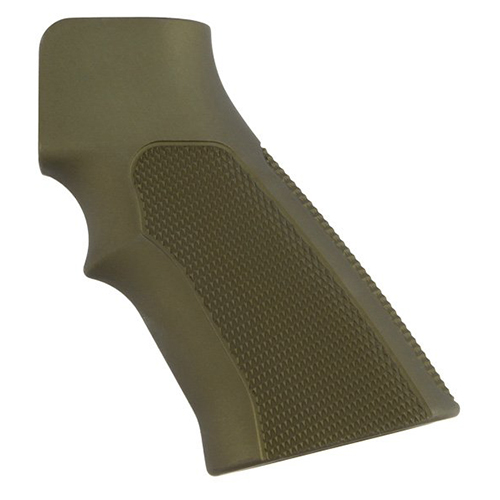 Hogue Hogue AR-15 Extreme Grips Checkered Aluminum Matte Green Anodized 15171