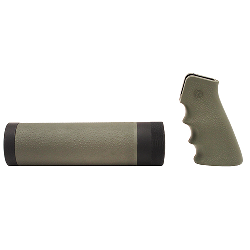 Hogue Hogue AR-15 Kit AR-15/M-16 Kit OM Grip and Free Float Forend OD Green 15218