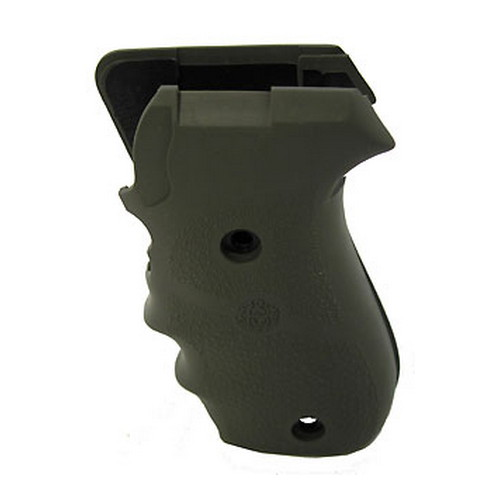 Hogue Hogue Sig P220 American Grips Rubber w/Finger Grooves, Olive Drab Green 20001