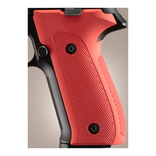 Hogue Hogue Sig P226 Grips DAK, Checkered Aluminum Matte Red Anodized 26152