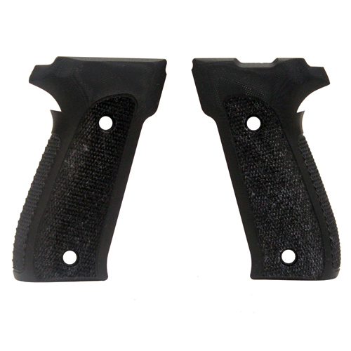 Hogue Sig P226 Grips DAK, Checkered G-10 Solid Black