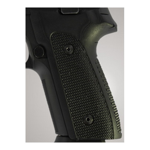 Hogue Sig P228/P229 Grips DAK, Checkered G-10 Solid Black