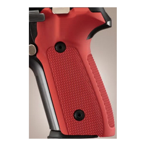 Hogue Hogue Sig P228/P229 Grips Checkered Aluminum Matte Red Anodized 28172