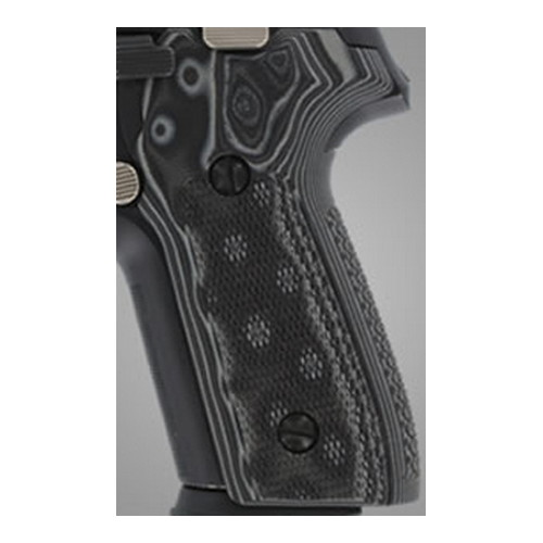 Hogue Hogue Sig P228/P229 Grips Checkered G-10 G-Mascus Black/Grey 28177-BLKGRY