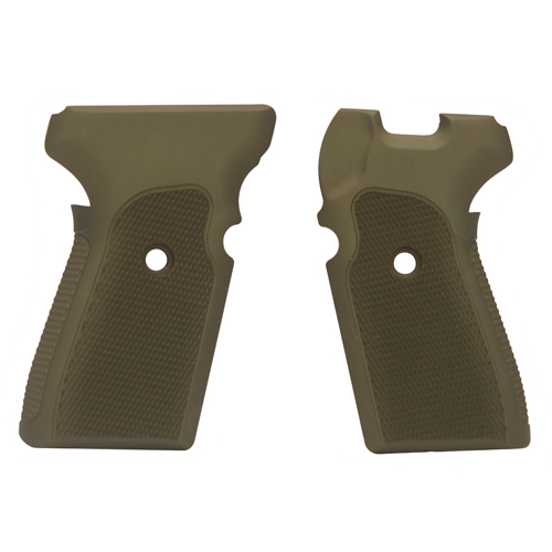 Hogue Hogue Sig P239 Grips Checkered Aluminum Matte Green Anodized 31171