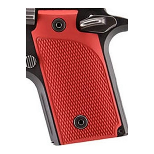 Hogue Hogue Sig P238 Grips Checkered Aluminum Matte Red Anodized 38172