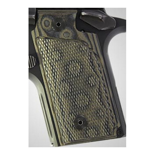 Hogue Sig P238 Grips Checkered G-10 G-Mascus Green