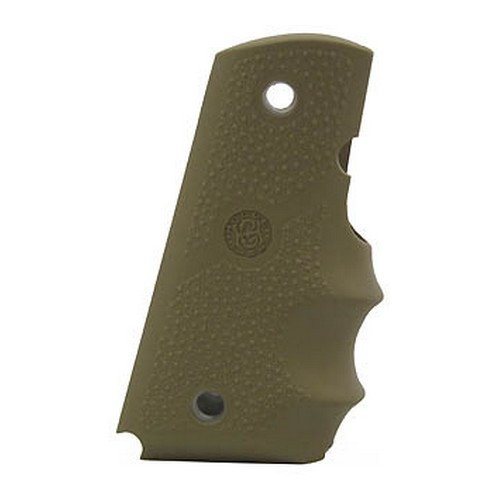 Hogue Hogue Colt Officers Rubber Grip with Finger Grooves Desert Tan 43003